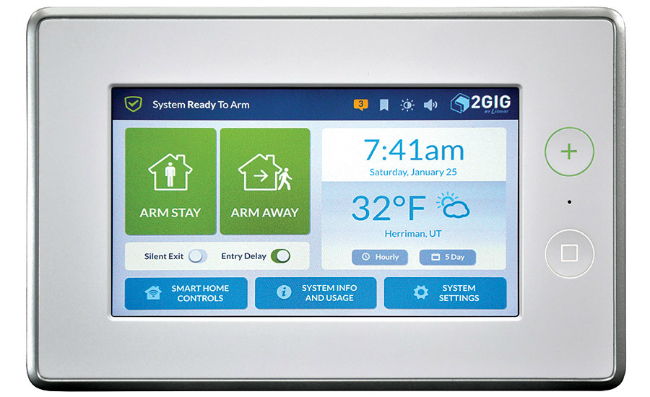 touch screen home security panel